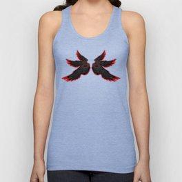 Black Red Archangel Wings Unisex Tank Top