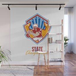 American Football Quarterback State Championships Wall Mural
