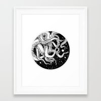 octopus Framed Art Prints featuring Octopus by Corinne Elyse