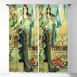 1910 Fernet Branca Liqueur Aperitif Advertisement Poster Print Blackout Curtain