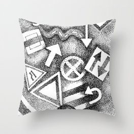 street signs Throw Pillow