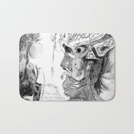 Human with animals Bath Mat