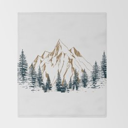 mountain # 4 Throw Blanket