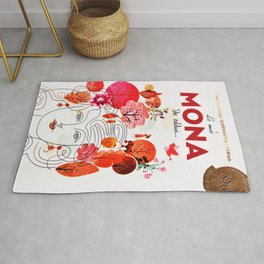 Vintage La Mas Mona de Todas Wine Bottle Label Print Rug
