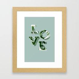 Love plants Framed Art Print