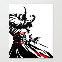 assassins creed Canvas Prints featuring Assassins Creed  by iankingart