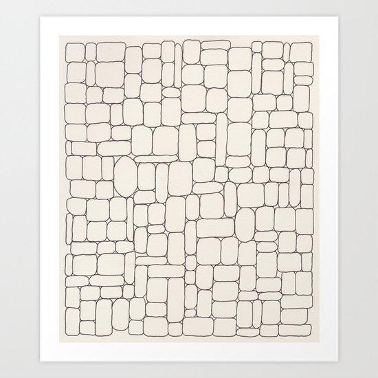 Stone Wall Drawing #3 Art Print