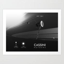 NASA/ESA Cassini-Huygens Art Print