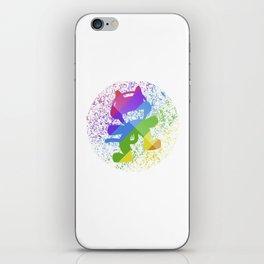 Rainbow MonsterCat iPhone Skin