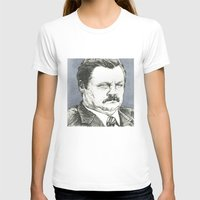ron swanson T-shirts featuring Ron Swanson by Molly Morren