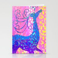 reindeer Stationery Cards featuring ReinDeer  by Saundra Myles