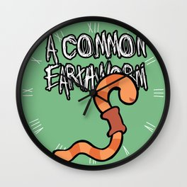 Common Earthworm Wall Clock