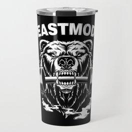 Beast Mode Bear Workout Travel Mug