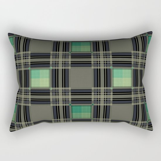 Green black nice cage . Rectangular Pillow
