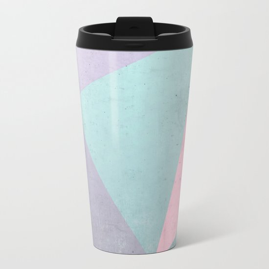 Floral Geometry Metal Travel Mug