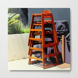 Take Me Higher Chairs Metal Print
