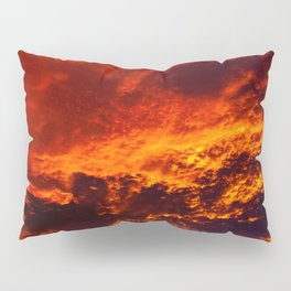 Waking Up To The Sky On Fire Pillow Sham
