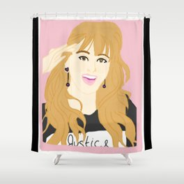 Knock Knock! Jihyo Pink Shower Curtain