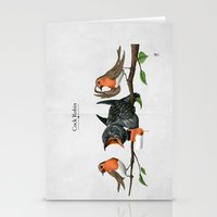 cock Stationery Cards featuring Cock Robin by rob art | illustration