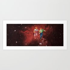 We spent most of our childhood lost in space. Art Print