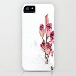 Rose in Snow iPhone Case