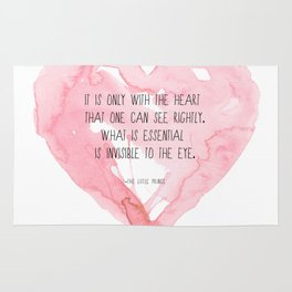It is only with the heart Rug