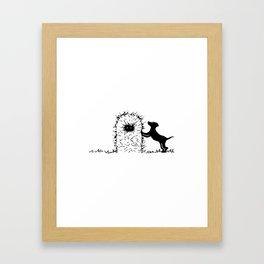Hay Pup Framed Art Print