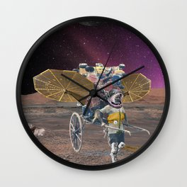 Space scavenger Wall Clock