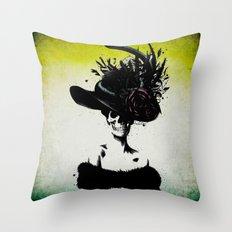 mrs skeleton Throw Pillow