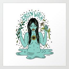 Green Witch Art Print