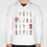 lotr Hoodies featuring Give Me A Hand by Derek Eads
