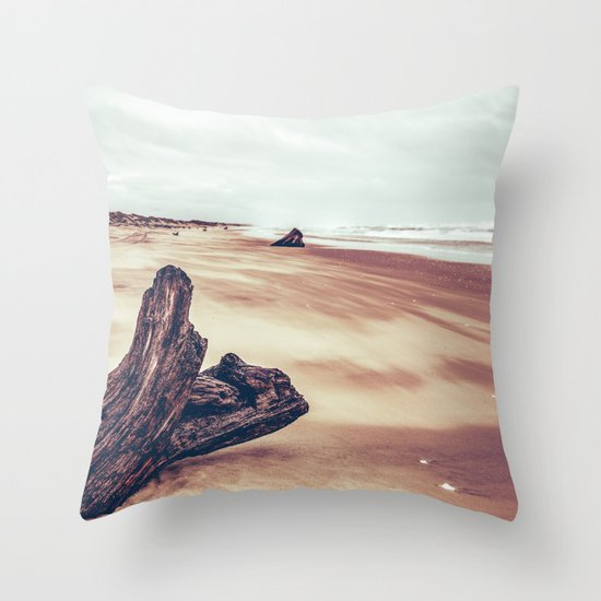 Ocean Driftwood Throw Pillow