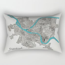 Pittsburgh Neighborhoods Rectangular Pillow