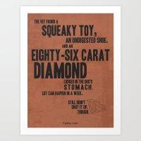 snatch Art Prints featuring Snatch by Megan Oliveri Designs