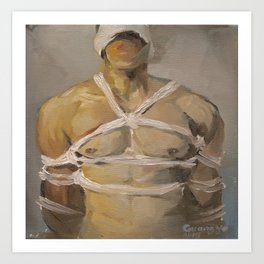 BDSM eeotic gay bondage Art Print