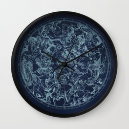 Vintage Constellation & Astrological Signs Wall Clock