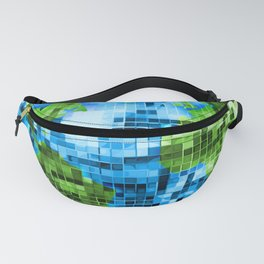 Galactic Disco Ball Planet Earth  Fanny Pack