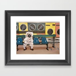 Laundronaut Framed Art Print