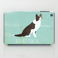 border collie iPad Cases featuring Border Collie by 52 Dogs