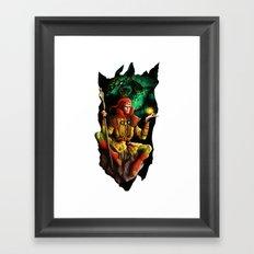 A wizard in the dark Framed Art Print