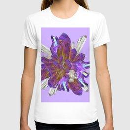 DECORATIVE CLUSTER AMETHYST & QUARTZ CRYSTALS T-shirt