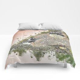 Animal Bird Jay Garrulus Comforters