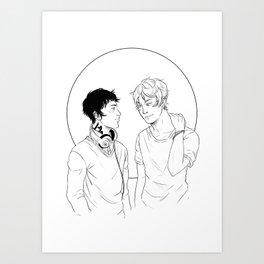Kit & Ty Art Print
