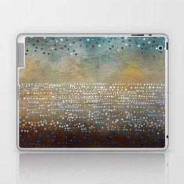 Landscape Dots - Turquoise Laptop & iPad Skin