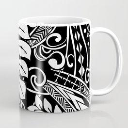 Vintage White Samoan Tribal Design Coffee Mug