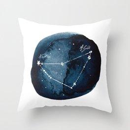 Capricornus Zodiac Constellation Throw Pillow