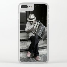 Music on the steps Clear iPhone Case