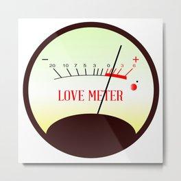 Red Hot Love Meter Metal Print
