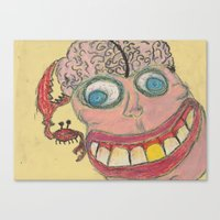 dumb and dumber Canvas Prints featuring dumb by goldcat