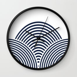 Rolling Hills in Delft Blue Wall Clock